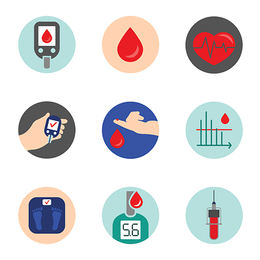 Diabetes Icon vector 512x512
